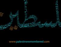 Stolen Towns of  Palestine Typography