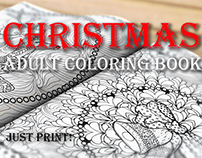 Cristmas Adult Coloring Book