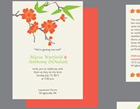Alyssa & Anthony's wedding invites