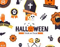 Halloween Flat Design Elements