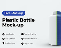 Free Plastic Bottle Mockup