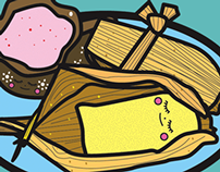 Character Design, Mexican Food, Illustration Baby Tamal