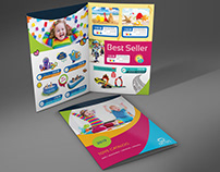 Toys Products Catalog Bi-Fold Brochure Template