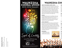 Waukesha Choral Union Season Brochure 2012-13