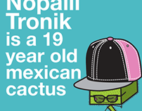 Character Design & Illustration, Nopalli Tronik cactus