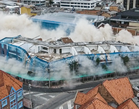 Implosión edificio Defensoría del pueblo | DJI Phantom