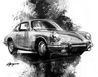 Car Artworks in Back & White