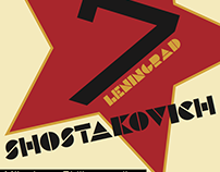 "Shostakovich Symphony no. 7 ""Leningrad"" Concert Poster"