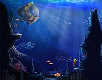 Underwater scen for children book