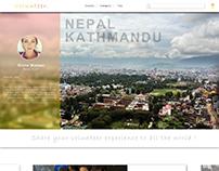 Landing page - Volunteer sharing platform