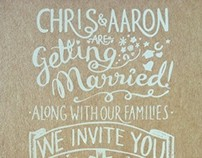 Aaron & Chris's Wedding Invitations!