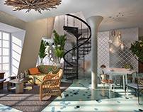 Loft  New London style /Проект для ЖК Clerkenwell House