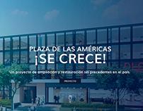Se crece plaza   Plaza de las Americas
