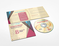 4 Panel CD Sleeve Mockup