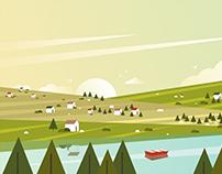 Concept Landscape illustration