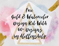 FREE GOLD & WATERCOLOR DESIGN KIT