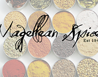 Magellean Spices Logo and Social Media
