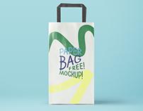 Paper Bag Mockup - Freebie