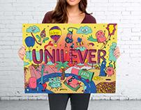 Doodle story for Unilever's rebranding.
