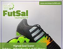 "FB Post Design for ""Social Sports 360"" Event : FutSal"