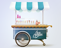 Ice Cream Cart illustration
