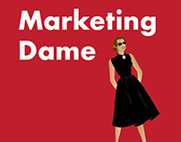 Marketing Dame Logo Design