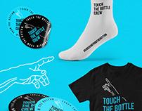 Logo & Merch Design for Touch the Bottle Crew