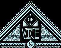 Of Vice & Virtue - Icon and Type Treatment