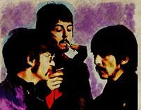The Beatles Retro Poster