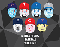 KITMAN BASEBALL PLAYER ILLUSTRATION -VERSION #1-