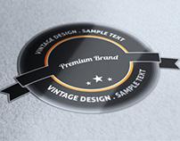 Premium Retro Vintage Badges set