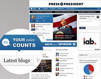 PressThePresident Facebook App & Web Design