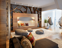 Concept of interior penthouse, Russia, Novosibirsk 2013
