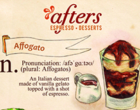 Afters Espresso & Desserts infograph