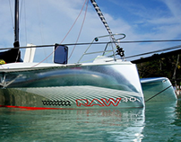Logo and Graphic Wrap for Raw30 Trimaran Hull