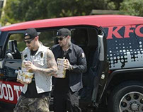 Food styling for KFC TVC with Good Charlotte