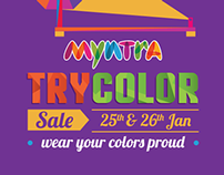 Myntra Try-color sale