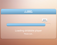 Dribbble Debut - Loading dribbble player