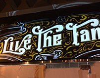 "Lettering Mural - Restaurant ""The Place"""