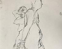 Charcoal Figure Studies