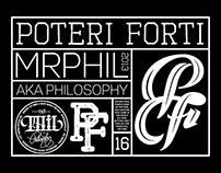 POTERI FORTI 2016 monogram logo.