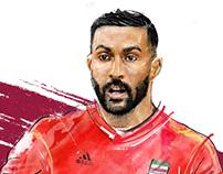 Saman Qoddous (IRAN in World Cup)