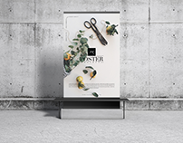 Concrete Environment Display Poster Mockup Free