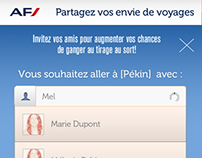 Air France Mobile UI