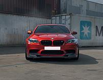 BMW M5 Sakhir Orange.
