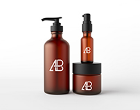 Cosmetic Packaging Mockup PSD