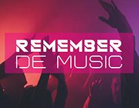 Cartel. Remember de music. Diseño gráfico