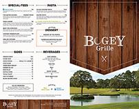 Bogey Grille Menu & Business Cards