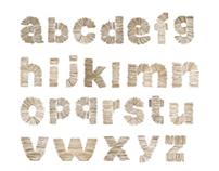 Toothpick typography