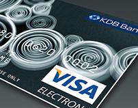 KDB Bank credit card design